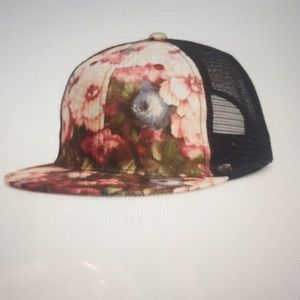 Phase3 Floral Satin Trucker Hat NWT